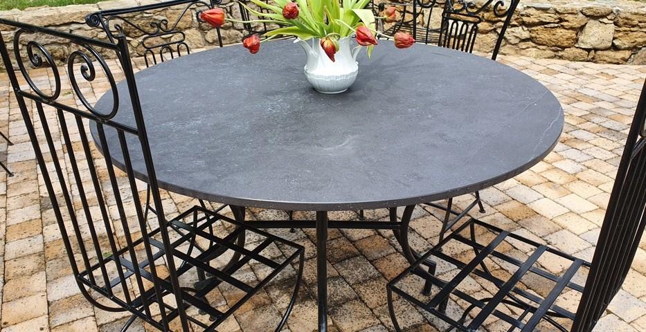 Plateau de table, table, plateau de table dekton, plateau de table en dekton, gironde, bordeaux, bassin d'arcachon, décoration dekton, table terasse